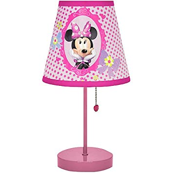 Amazon.com: Disney Minnie Mouse – Lámpara de mesa para ...