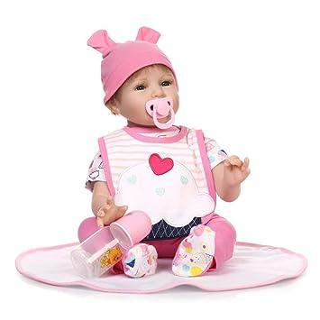 Amazon.com: Muñeca realista bebé reborn de silicona vinilo ...