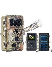 VisorTech Wildtierkamera: Full-HD-Wildkamera, 3 Bewegungssensoren, Nachtsicht, Farbdisplay, IP66 (Wild Cam)