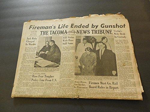Tacoma News Tribune Nov 26 1963 Jack Ruby Charged In Murder