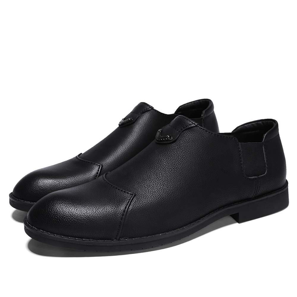 YXLONG Lederne Schuhe des Herbstes Männer, Rutschfeste Geschäfts-beiläufige Schuhe, Lederne Atmungsaktive Rutschfeste Männer, Schuhe der Männer schwarz 3f8e8a
