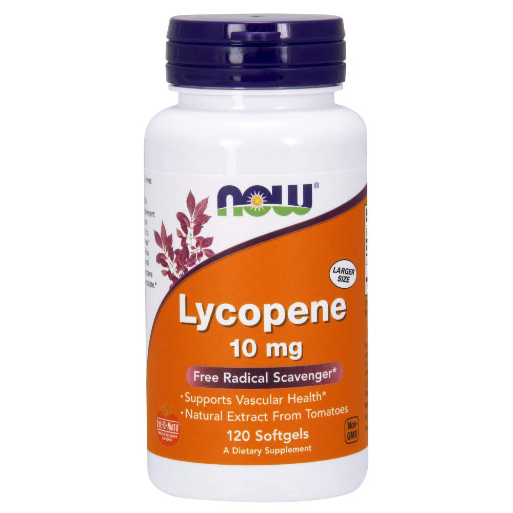 Now Supplements, Lycopene 10 mg with Natural Extract from Tomatoes, 120 Softgels by NOW Foods