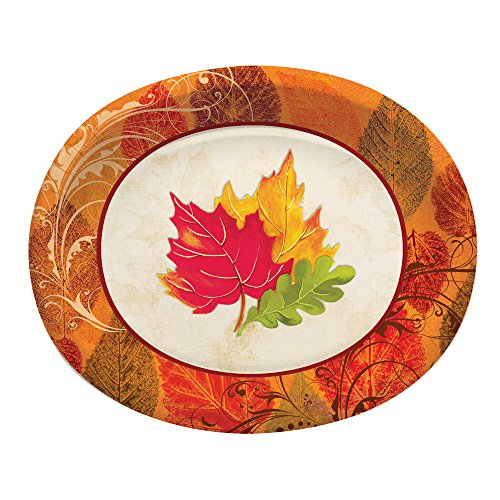 Creative Converting 8 Count Oval Paper Platters, 10