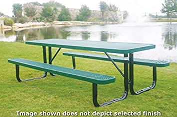 Coated Outdoor Furniture T8-LBL Rectangular Portable Picnic Table, 8 Feet, Light Blue
