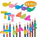 Paxcoo 16 Pcs Pencil Grips Assorted Colors Pen