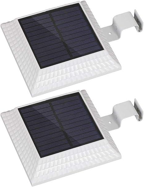 Pack of 2 Solar Gutter Lights White