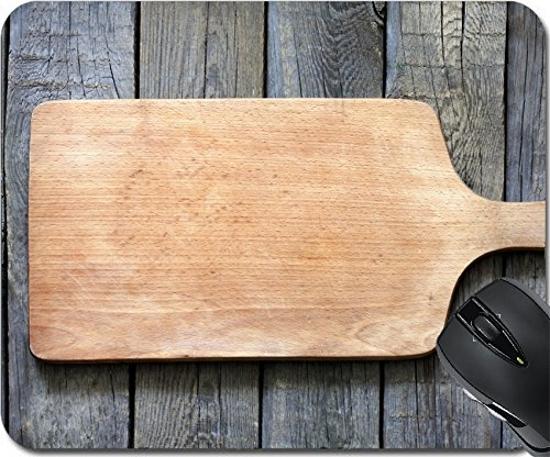Price comparison product image MSD Natural Rubber Mouse Pad Mouse Pads / Mat design 19591738 Empty vintage cutting board on planks food background concept