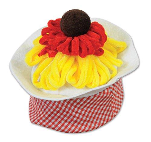 Beistle 60027 Plush Spaghetti & Meatball Hat, -