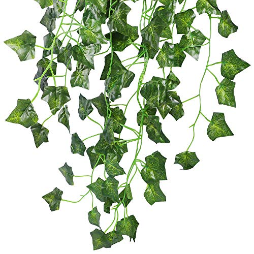 JPSOR 24 Pack (79 inch Each) Fake Ivy Artificial Ivy Leaves Greenery Garlands Hanging for Wedding Party Garden Wall Decoration by JPSOR (Image #4)