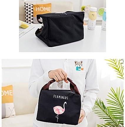 iTemer 1 pieza Simple Flamingo Print Zipper Bolsa de aislamiento port/átil Bolsa de conservaci/ón de alimentos Bolsa de picnic Azul