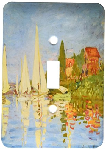 Regatta Single - 3dRose lsp_203868_1 Print Of Monet Painting Regatta At Argenteuil - Single Toggle Switch
