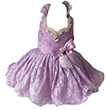 Zhoumei Infant Girls' Custom National Soft Lace Short Pageant Dresses 1 Blue