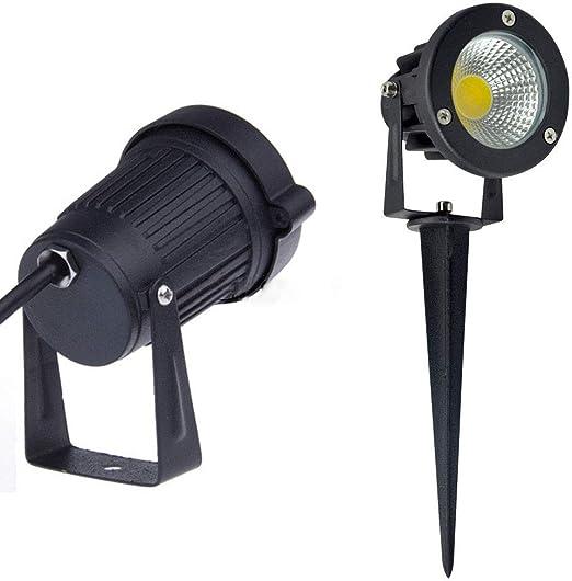 Suelo Luz LED Foco IPX65 resistente al agua blanco cálido 7 W ...