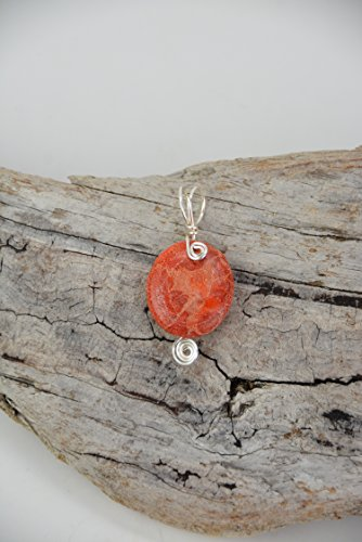 - Sponge Coral Pendant Necklace