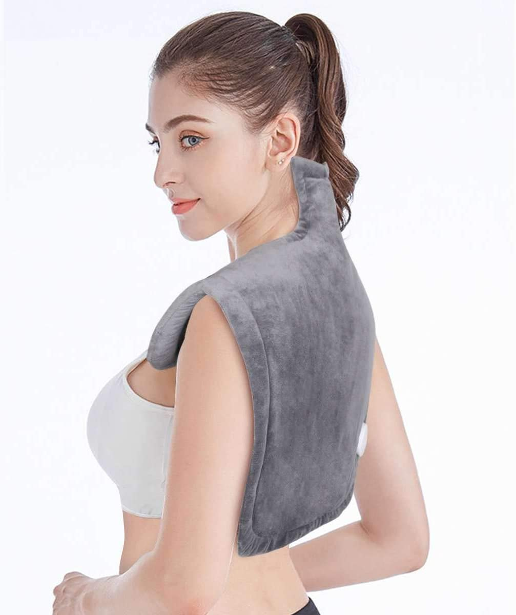"""BesDio Heating Pad for Neck and Shoulders XLarge, Fast Back Pain Relief Heating Wrap with 2Hr Auto Off, ETL Certified & FDA Registered, 6 Temperature Settings, 25 x 26"""""""