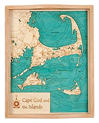 Base Line Lake (with Tamarack and Whitewood Lakes) - Livingston County - MI - 2D Serving Tray 14 x 18 in - Laser Carved Wood Nautical Chart and Topographic Depth map.