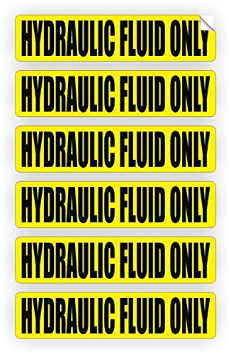 6-Pc Exceptional Popular Hydraulic Fluid Only Vinyl Sticker Fuel DecorMachinery Decal Oil Door Label Size 3/4