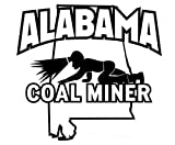 1 Pc Supreme Fashionable Alabama Coal Miner Stickers Sign Vinyl Indoor Car Decal Size 6