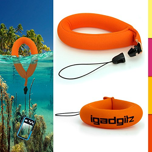 iGadgitz 1 Pack Neon Orange Waterproof Floating Wrist Strap suitable for Underwater/Waterproof: Cameras, Video cameras, cases & housing, Marine binoculars + Waterproof Sony - Floating Orange