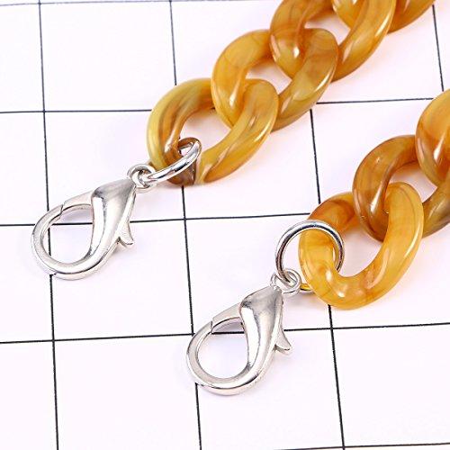 Plastic 120cm Replaement Women Handbag Bag with Bag Strap Strap Resin Amber LUOEM Buckles Ladies Chain dw8qIw