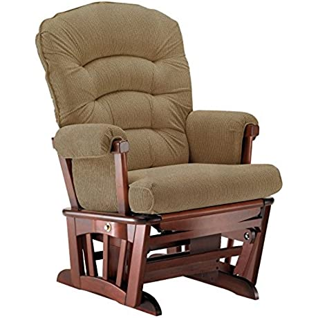 Shermag Extra Wide Glider Recliner Multi Features Chair Cabernet Harrison Basilic
