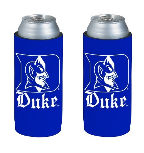 Duke Beer - NCAA 2013 College Ultra Slim Beer Can Holder Koozie 2-Pack (Duke Blue Devils)
