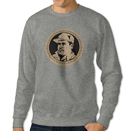HUHA El Chapo Guzman Currency Men's Crew Neck Sweatshirt Tops