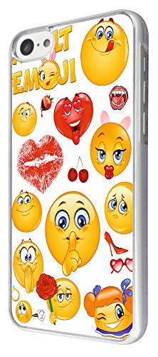 901 - Adult Cool Smiley Faces emoji Funky Design iphone 5C Coque Fashion Trend Case Coque Protection Cover plastique et métal