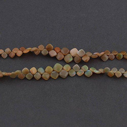 2 Strand Natürliche Äthiopische Opal Glatte Kissen Briolettes – Welo Opal Kite Form Perlen 5 mmx6 mm-8mmx8 mm 20,3 cm