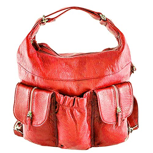 Purse Butterfly Red Apple Convertible Vegan and Backpack Shoulder Purse Bag Leather in Candy King Soft CBpCwxqZ