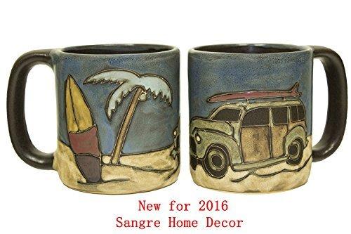Mara Stoneware Mug - Woody Surf Wagon 16 oz - New Fall 2015