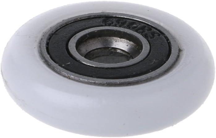 8 Rollen f/ür Duschkabinen Ersatzteile Rollen 23 mm Durchmesser