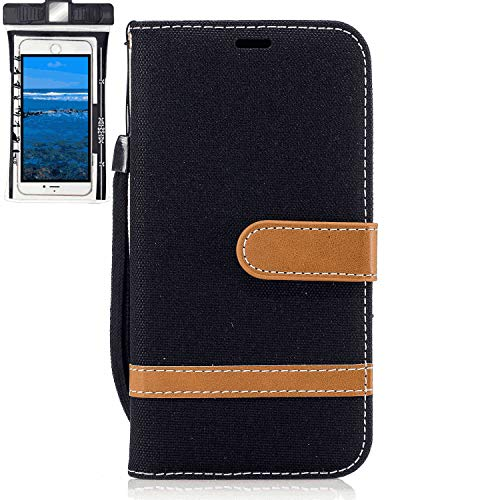 Samsung Galaxy A10E Flip Case, Cover for Samsung Galaxy A10E Leather Mobile Phone case Kickstand Extra-Protective Business Card Holders with Free Waterproof-Bag Delicate