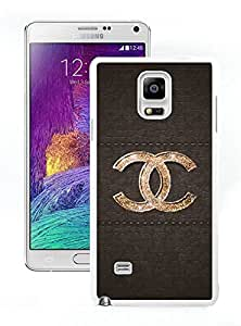 Fashion And Beautiful Custom Designed With CHANEL Logo Cover Case For Samsung Galaxy Note 4 N910A N910T N910P N910V N910R4 Phone Case 44 White