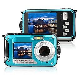 Yisence Underwater Camera 24.0mp Waterproof Digital Camera Full Hd 1080p Dual Screen Point & Shoot Digital Camera