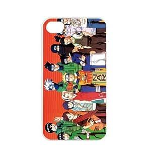 Naruto Manga Anime Comic Uzumaki Naruto Uchiha Sasuke Apple iPhone 4 / 4s TPU Soft Black or White case (White)
