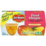 Del Monte Plastic Mango Cup, 4 Ounce - 6 per case.