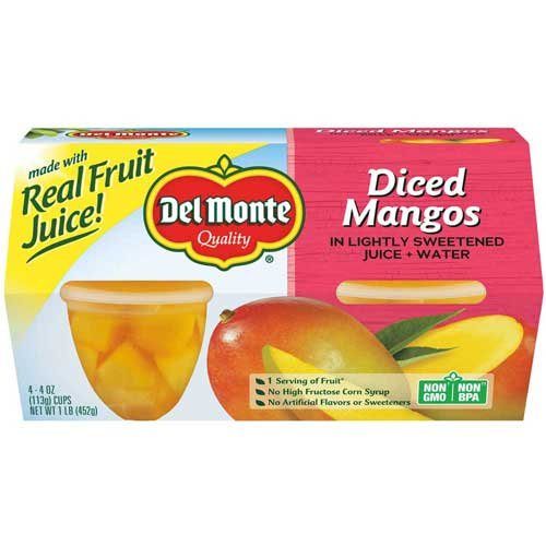 Del Monte Plastic Mango Cup, 4 Ounce - 6 per case. by Del Monte