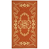 Cheap Safavieh Courtyard Collection CY1893-3202 Terracotta and Natural Indoor/Outdoor Area Rug (4′ x 5'7″)