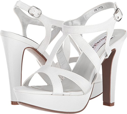Dyeables Women's Queenie Heeled Sandal, White, 8 M US -
