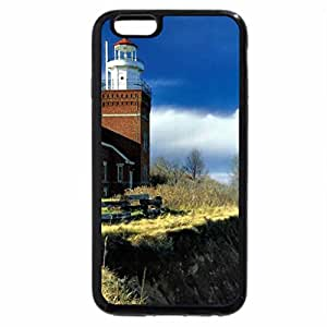 iPhone 6S / iPhone 6 Case (Black) Big-Bay Lighthouse F1
