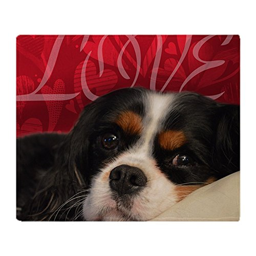 (CafePress Cavalier King Charles Spaniel Love Soft Fleece Throw Blanket, 50