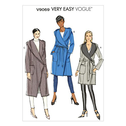 Vogue Patterns V9069 Misses' Coat and Belt Sewing Template, Y (Vogue Belt)