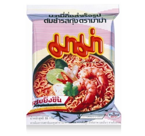 - 5 Packs - Mama Shrimp Tom Yum Flavour Instant Noodles Thailand by Thai Canteen