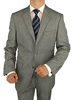 Bianco B Men's 3 Piece Suit Side-Vent Jacket Flat Front Pant Extra Trousers