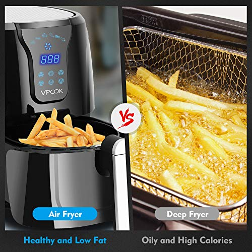 Vpcok 3 7 Quart Xl Air Fryer With Recipes 6 Cooking Presets