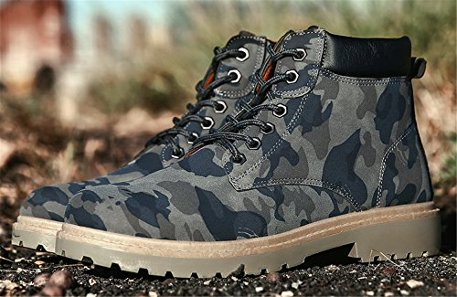 Casual Boot AgeeMi Up Boots Combat Blue Sneakers Lace Winter Mens Shoes Camouflage 8r8vq