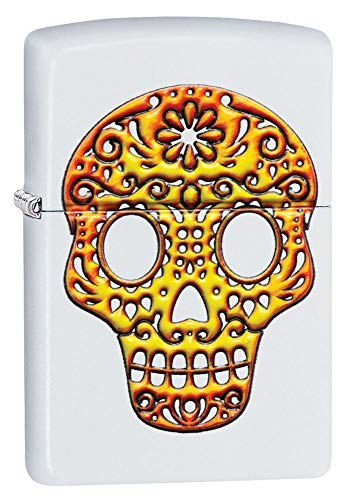 Personalized Zippo Sugar Skull Windproof Lighter Free Engraving #49003