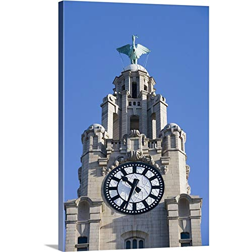 GREATBIGCANVAS Gallery-Wrapped Canvas Entitled Liver Building in Liverpool, England by 40