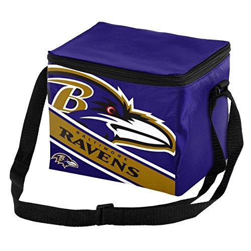 87f305306c3f Baltimore Ravens Big Logo Stripe 6 Pack Cooler